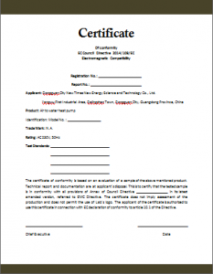Conformity certificate template free word templates confirmity certificate template yadclub Gallery