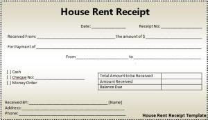 Word Templates  House Rent Receipts