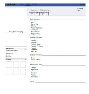 Facebook template free word templates for Facebook page header template