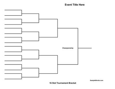 16 Team Tournament Bracket