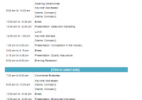 Conference Program Template
