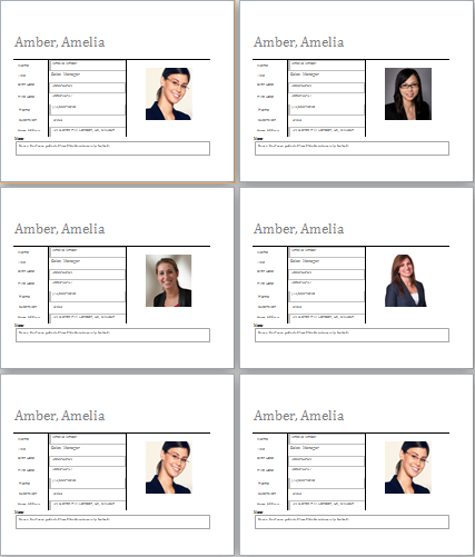 Employee-profile-template