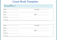 Guest book Template