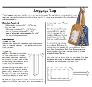 Luggage Tag Template