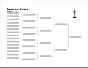 Tournament Bracket Template Free Word Templates