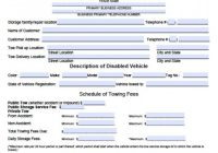 Towing Receipt Template