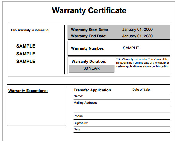 Warranty certificate template free word templates warranty certificate template yelopaper Choice Image