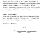 Hold Harmless Agreement Template