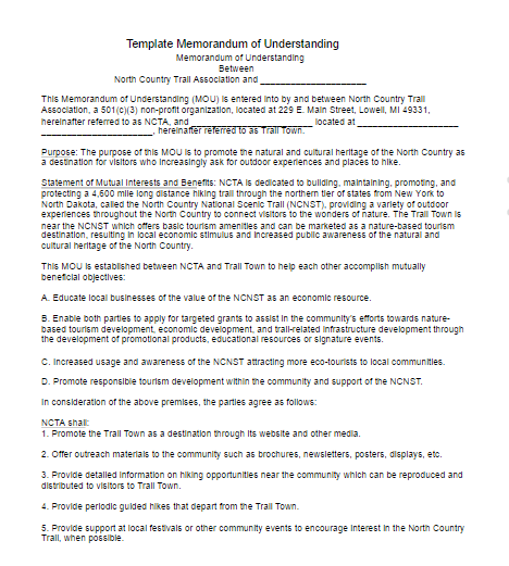 Memorandum of understanding template free word templates for Template for a memorandum of understanding