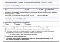 Tax Lien Form