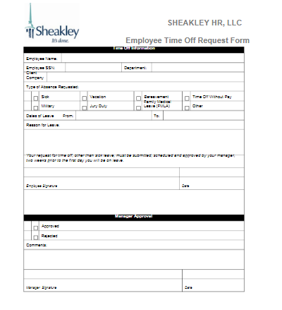 Paid time off request form template – Download: reviews