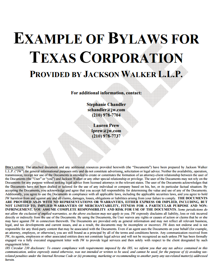 Doc575709 Corporate Bylaws Template Free Corporate Bylaws – Corporate Bylaws Template