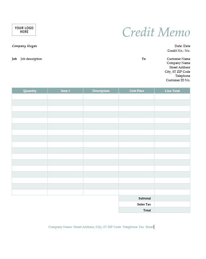 Cash Memo Template  Cash Memo Format In Word