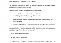 IT policy template