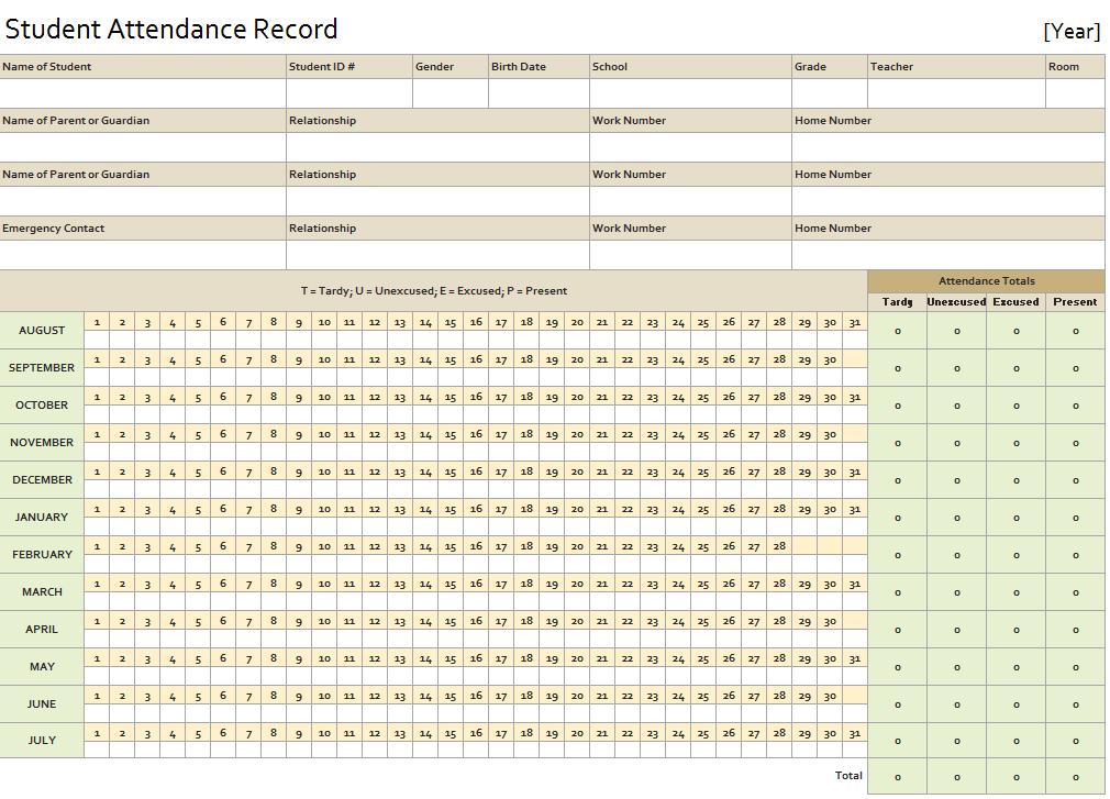 Student Attendance Record