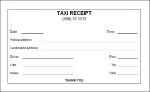 Taxi Receipt Template | Free Word Templates