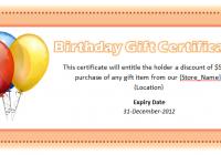 Birthday Voucher Template