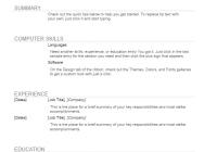 general resume template