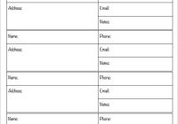 phone list template