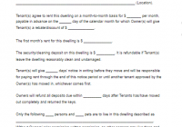 Month-To-Month Rental Agreement